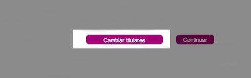 Botón para cambiar la titularidad de los viajeros en los billetes online de Tarifa Mesa del AVE.