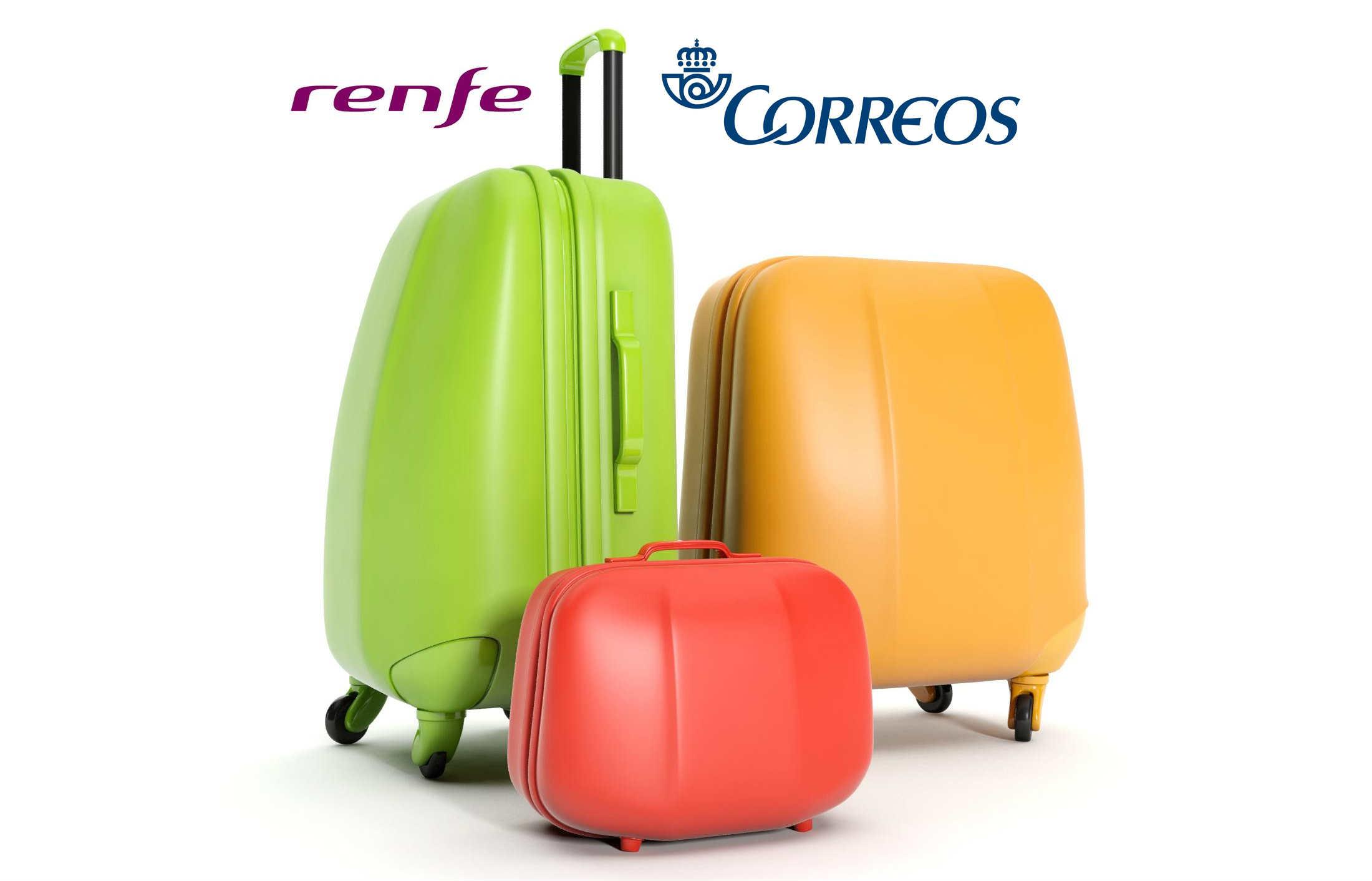 Las maletas de cuando viajamos en AVE se pueden enviar por Correos.