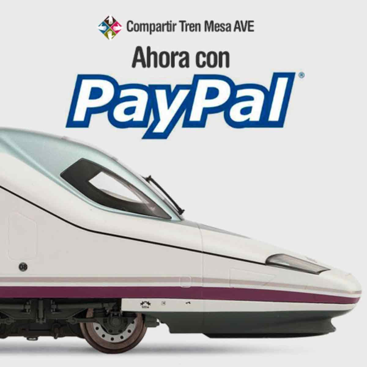 Te explicamos cómo pagar con Paypal los billetes del AVE