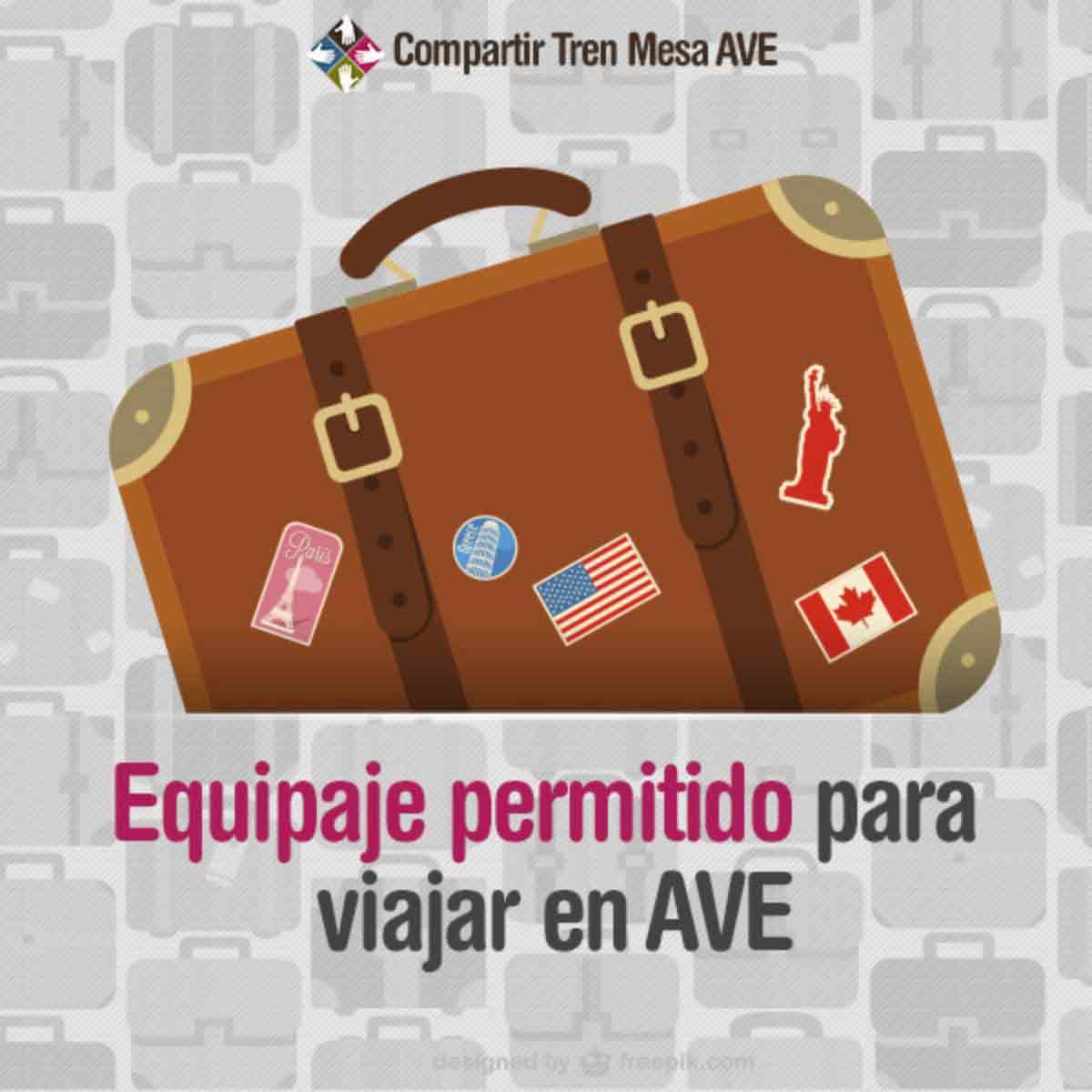 ¿Qué equipaje está permitido para viajar en AVE?