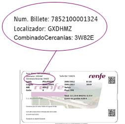 El billete de AVE incluye el uso gratuito de viajes en Cercanías con el localizador.