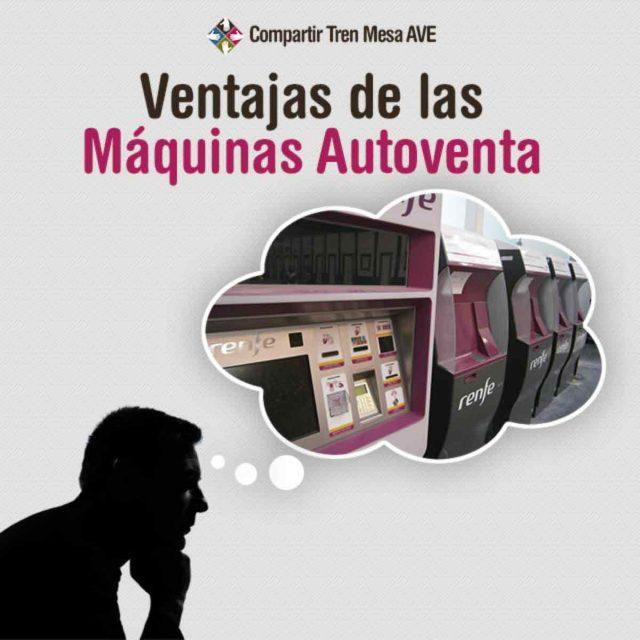 Ventajas y servicios de las máquinas autoventa para viajar en AVE.