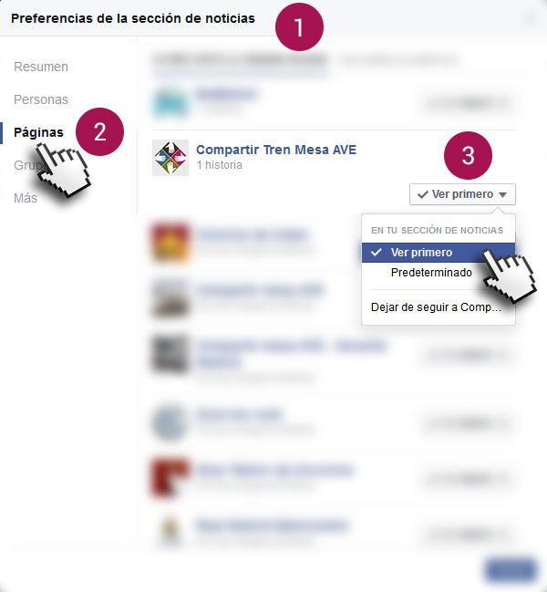 Cómo estar informado sobre 'Compartir Tren Mesa AVE' y recibir las notificaciones en Facebook.