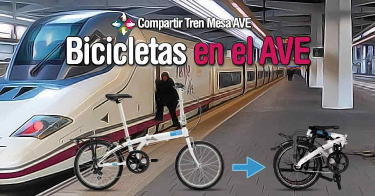 viajar con bicicleta en tren AVE.