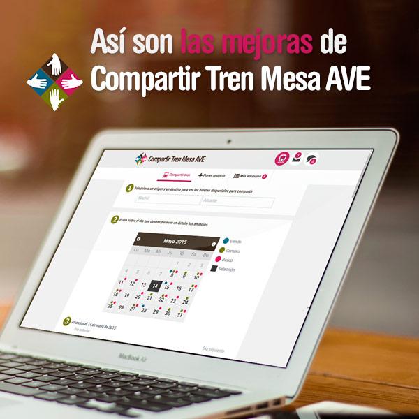 Compartir Tren Mesa AVE mejora la forma de conseguir billetes AVE más baratos.