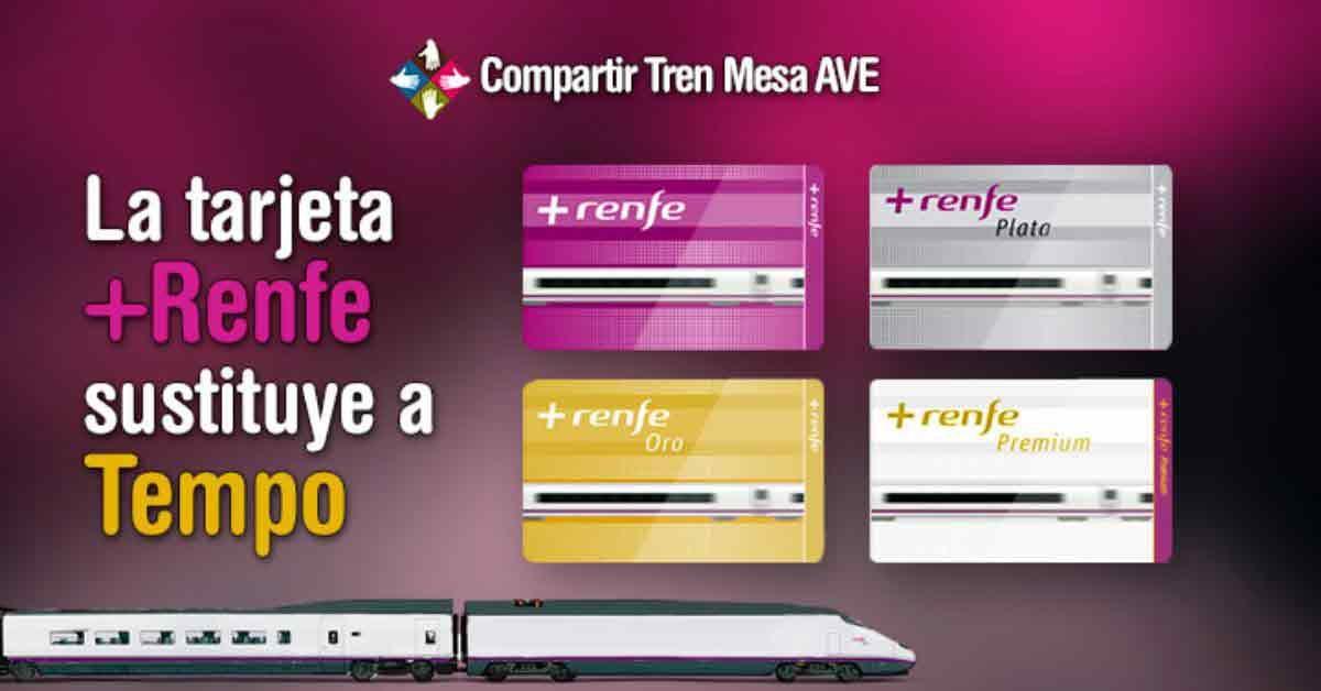 La nueva tarjeta +Renfe, para ahorrar en el AVE