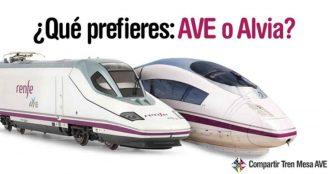 ¿Qué prefieres al viajar con Renfe: AVE o Alvia?