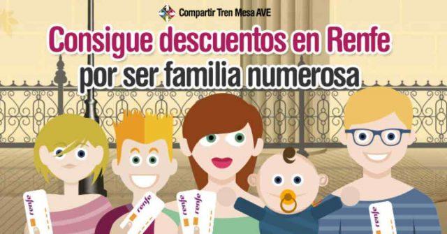 Consigue descuentos por familia numerosa viajando con Renfe