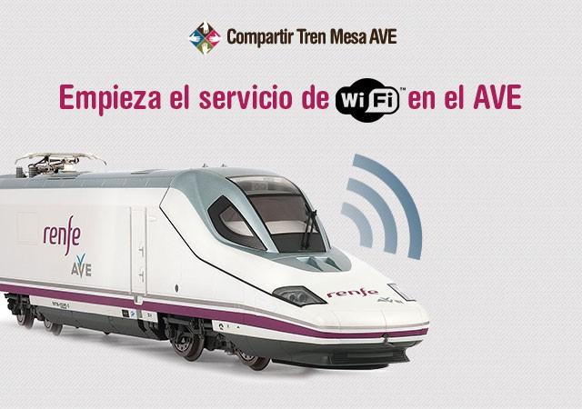 Empieza el servicio de WiFi en el AVE Madrid Sevilla