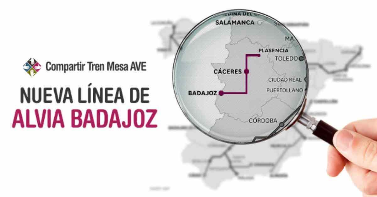 Todo sobre la nueva línea Alvia Badajoz