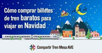 Trucos para comprar billetes de tren baratos para viajar en Navidad