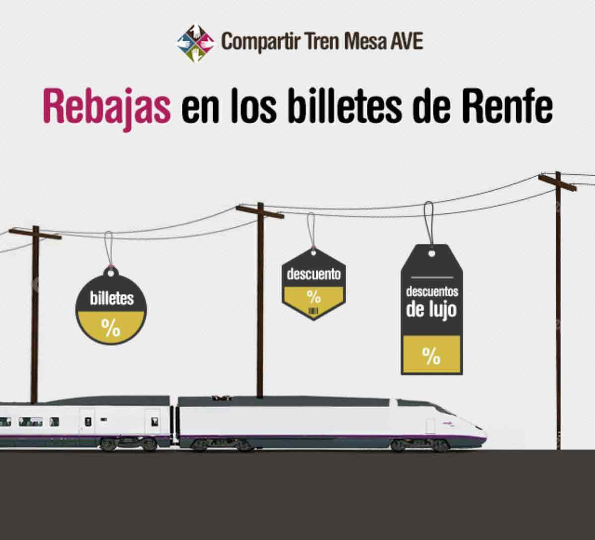 Billetes de AVE más baratos con las rebajas de Renfe
