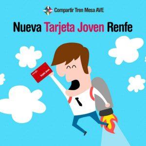Nueva Tarjeta Joven Renfe con un 50 por ciento de descuento en el AVE