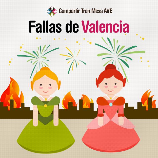 Disfruta de las Fallas de Valencia al comprar billetes de AVE más baratos