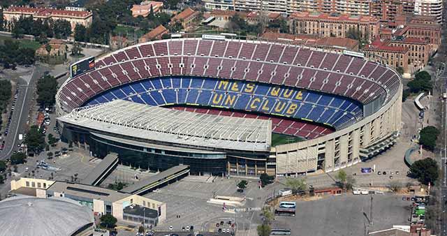 El Nou Camp, del Barcelona, de los mejores estadios de fútbol del mundo