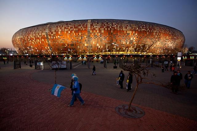 Soccer City, en Johannesburgo, de los mejores estadios de fútbol del mundo