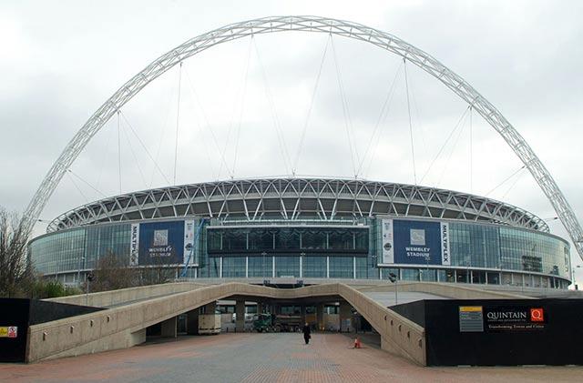 El Wembley de Londres, uno de los mejores estadios de fútbol del mundo