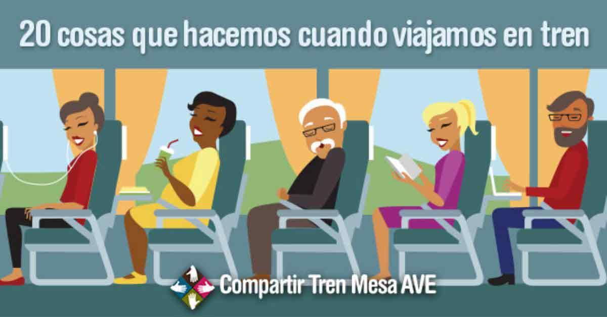 20 cosas que hacemos cuando viajamos en tren