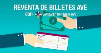 Reventa de billetes AVE con Compartir Tren Mesa AVE