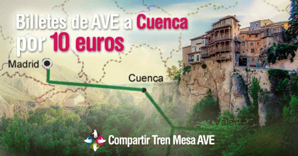 Billetes AVE Cuenca-Madrid por 10 euros