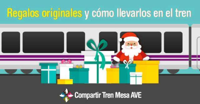 Regalos originales para esta Navidad y cómo llevarlos en tren