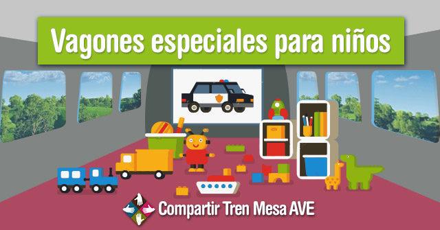 Vagones de tren para niños en los nuevos AVE
