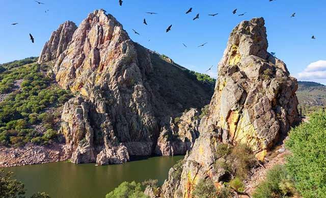 Uno de los mejores parques naturales de España es el Parque Natural de Monfragüe en Cáceres