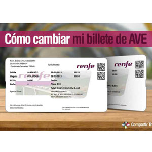 Cambiar billete AVE