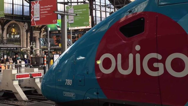 Tren Ouigo en la estación francesa de Lyon